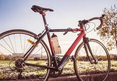 Race road bike. Toned royalty free stock images