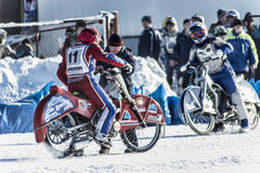 The race route. Russia. The Republic Of Bashkortostan. The Ufa. Racing on ice. The Championship Of Russia. A final . February 1, 2014 Stock Images