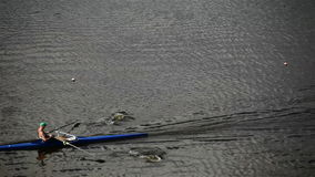 Race on rowing. Competition for water stadium stock video footage