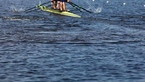 Race on rowing stock footage