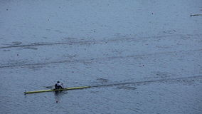 Race on rowing. Shooting from above stock video footage