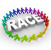 Race - Runners Around World Royalty Free Stock Photography
