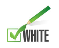 Race selection. pick white. illustration design Stock Photos