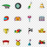 Race set icons Royalty Free Stock Images