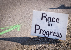 Race sign Royalty Free Stock Photo