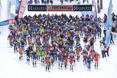 Race of ski touring Royalty Free Stock Photos