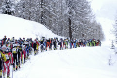 Race of ski touring Stock Photography