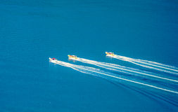 Race speedboats Royalty Free Stock Images