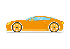 Race sport car. Supercar tuning coupe auto .Flat style vector transportation vehicle Royalty Free Stock Photography