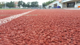 Race in sport stadium. Lane for run Royalty Free Stock Photos