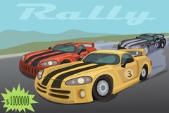 Race sports cars for one million Royalty Free Stock Photo