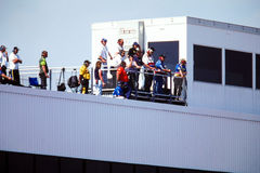 Race Spotters Royalty Free Stock Images