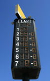 Race standings. A look at the scoring tower at Richmond International Raceway Royalty Free Stock Images