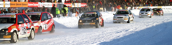 Race Stars in Moscow Stock Images