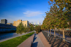 Race Street Pier Park in Philadelphia Royalty Free Stock Image