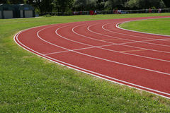 Race track. With green grass royalty free stock images