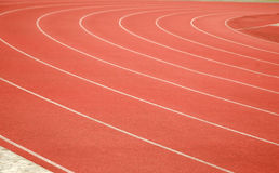 Race track. In a stadium stock photo