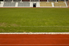 Race Track. The race track over the soccer field stock images