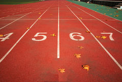 Race track. Red race track with numbers Royalty Free Stock Image