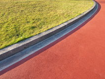 Race track. Red race track used for athletics stock photo