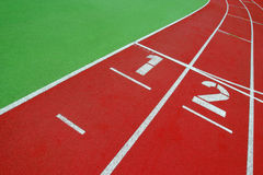 Race track a challenge to master. Race track in a stadium - sharp royalty free stock photo