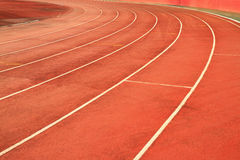 Race track curve. On The track stadium royalty free stock images