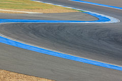 Race track curve road for car / motorcycle racing. Race track curve road for car motorcycle racing royalty free stock photography