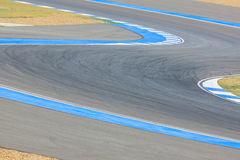 Race track curve road for car / motorcycle racing. Race track curve road for car motorcycle racing royalty free stock images
