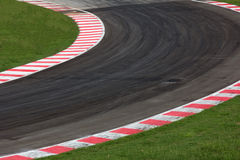 Race track curve road. For car racing Royalty Free Stock Photography
