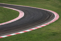 Race track curve road. For car racing stock photography