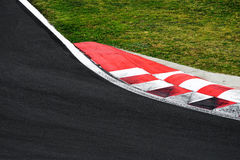 Race track curve road for car racing. Close up royalty free stock images