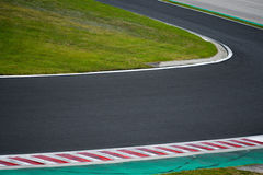 Race track curve road for car racing Royalty Free Stock Images