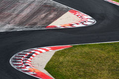 Race track curve road for car racing. Close up Stock Photography