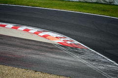 Race track curve road for car racing. Close up royalty free stock photography