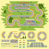 Race track curve road Stock Photography