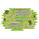 Race track curve road Royalty Free Stock Images