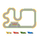 Race track curve road Royalty Free Stock Photos