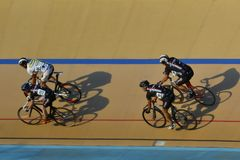 Race track cycling Royalty Free Stock Photo