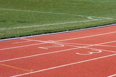 Race track and field Stock Image