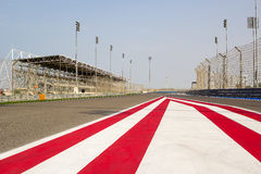 Race Track. Formula one race track taken at Bahrain International Circuit Stock Photography