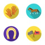 Race, track, horse, animal .Hippodrome and horse set collection icons in flat style vector symbol stock illustration web Stock Photos