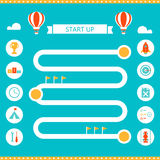 Race Track Infographics Template. Start Up and Business Strategy Concept Stock Photos