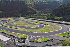 The race track on the island of Madeira stock images