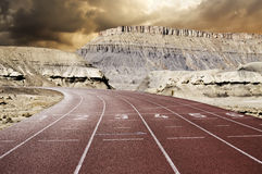 Race track mountains Royalty Free Stock Photography