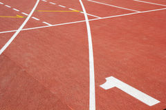 Race track with number one. Race tracks  with number 1 at stadium Royalty Free Stock Photo
