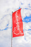 Race track Nurburgring - flag at entrance Stock Images