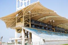 Race Track Spectator Seat. Formula one race track taken at Bahrain International Circuit royalty free stock images