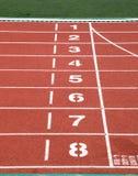 Race track in stadium Stock Photo