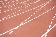 Race track at stadium Stock Photography