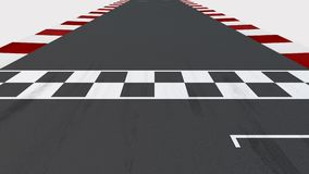 Race Track Start and Finish Line with Alpha Channel stock footage